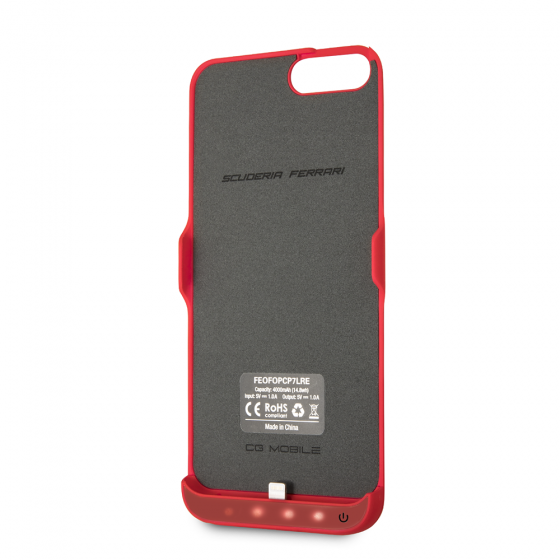 SCUDERIA FERRARI BLACK RUBBER POWER CASE W/ LOGO SHIELD
