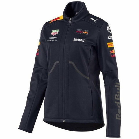 Red Bull Racing Formula 1 Women's 2018 Puma Navy Team Softshell Jacket
