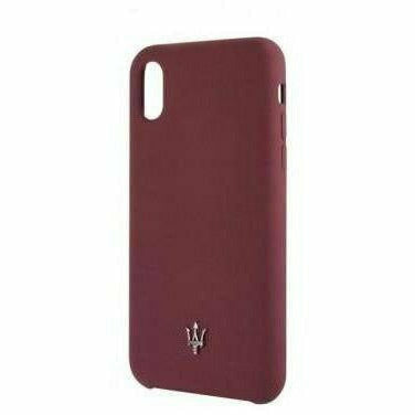 Maserati SILICONE COLLECTION SILICONE – BURGUNDY HARD CASE, iPhone XR