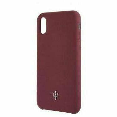 Maserati SILICONE COLLECTION SILICONE – BURGUNDY HARD CASE, iPhone X / XS
