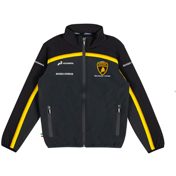 Automobili Lamborghini Gold 2019 Kids Black Softshell Jacket