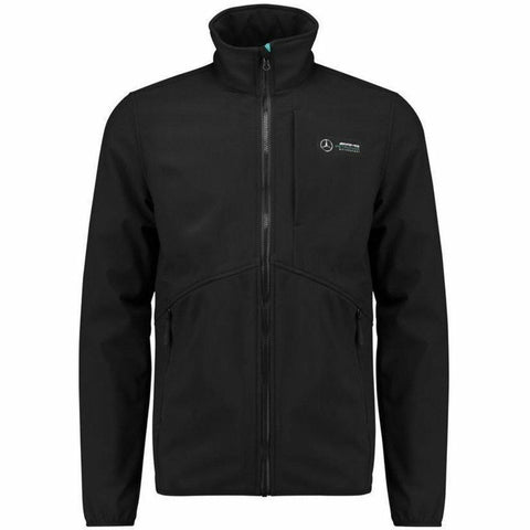 Mercedes Benz AMG Petronas Formula 1 Men's Black 2018 MAMGP Softshell Jacket