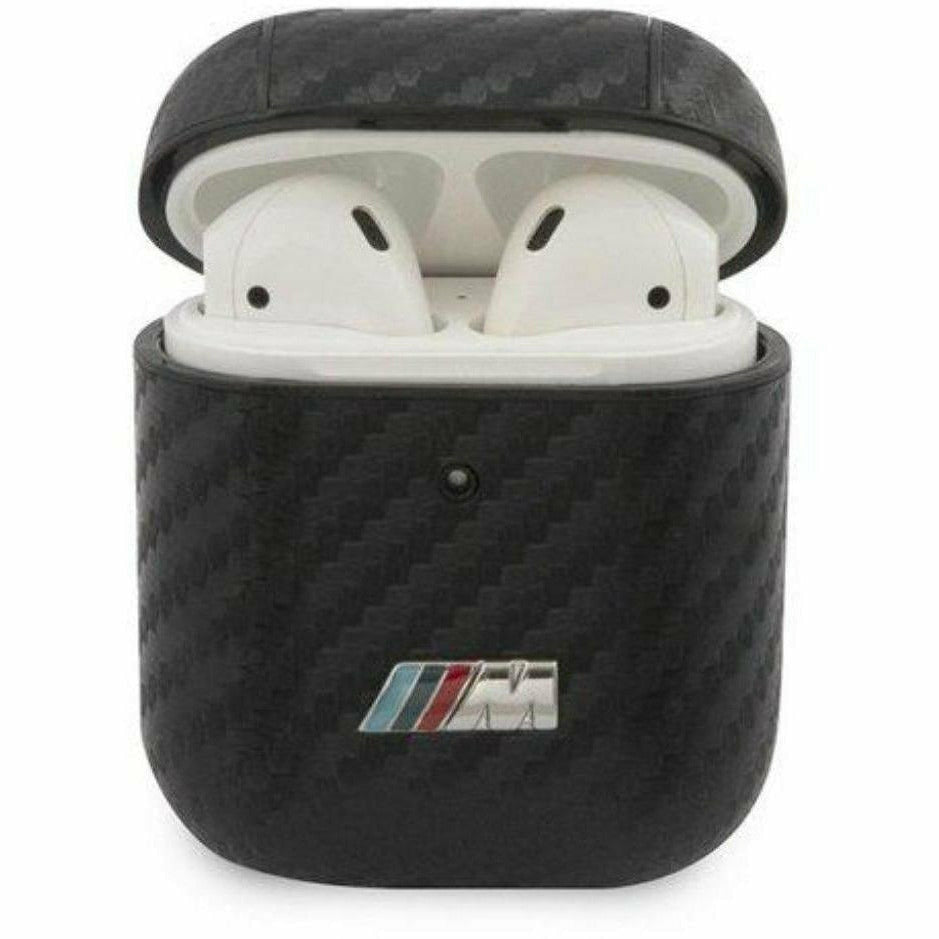 BMW Motorsports PC PU Carbon AirPods 1/2 Gen. Case with Metal Logo