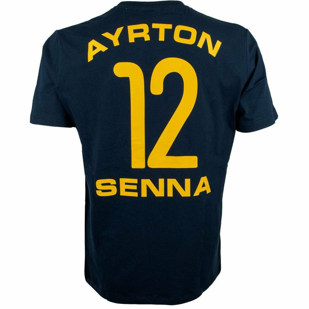 Ayrton Senna Navy T-Shirt Racing #12