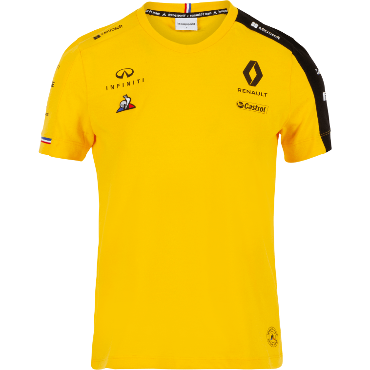 Renault F1 2019 Kids Team T-Shirt Yellow