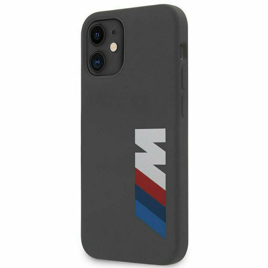 BMW LIQUID SILICONE CASE M COLLECTION PRINTED BIG LOGO, iPhone 12 Mini / Pro / Pro Max