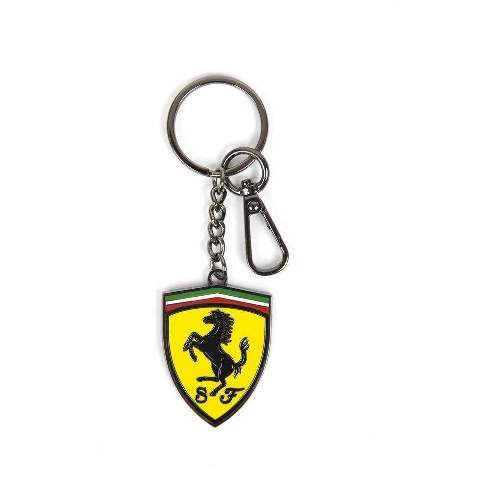 Scuderia Ferrari Formula 1 Authentic Metal Shield Keychain