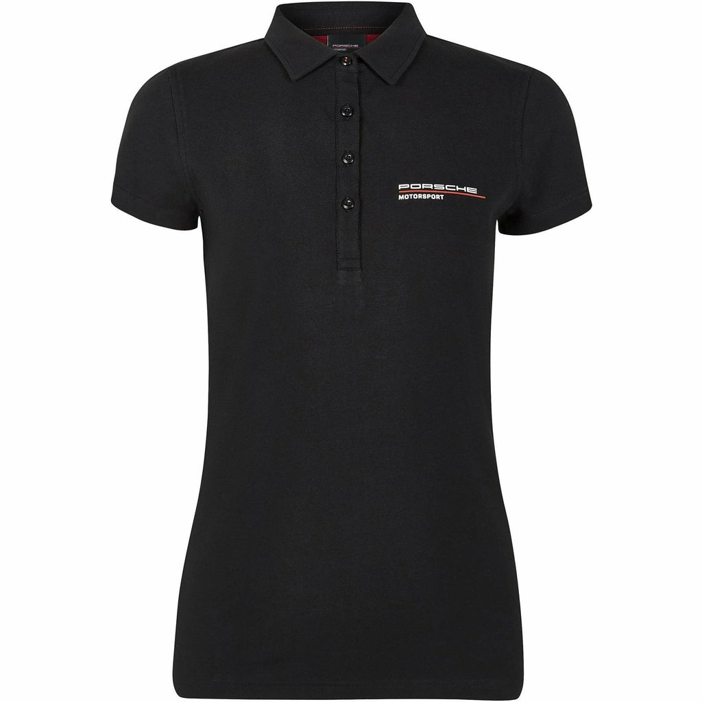 Porsche Motorsport Women's Black Polo