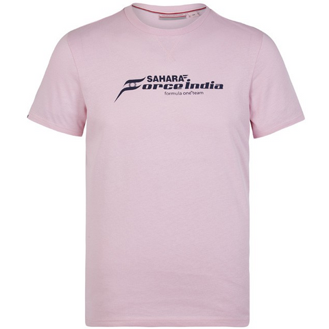Sahara Force India Formula 1 Authentic Men's 2018 Pink Logo T-Shirt