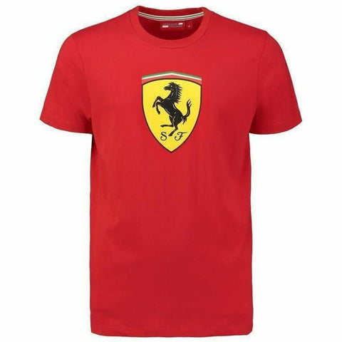 Ferrari Men's Red Classic Crew Neck 2018 T-shirt w/Large Logo
