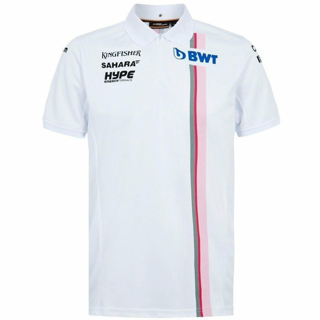 Sahara Force India Formula 1 Authentic Men's 2018 White Team Polo