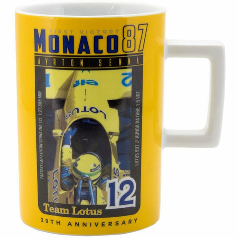 Ayrton Senna Monaco 1st Vicotry 1987 Team Lotus Mug
