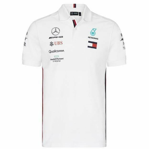 Mercedes-AMG Petronas Motorsport 2019 F1 Team Polo Shirt White