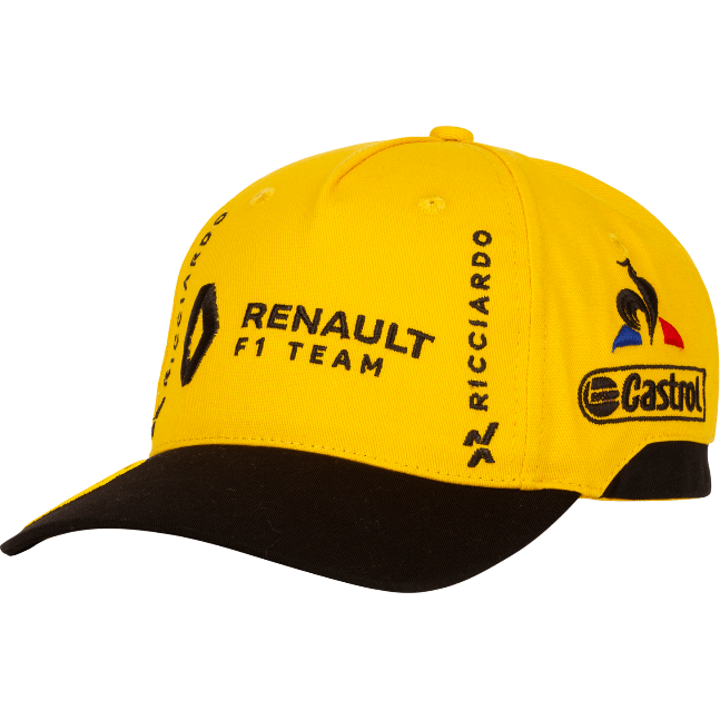Renault F1 2019 Daniel Ricciardo Kids Team Hat Yellow