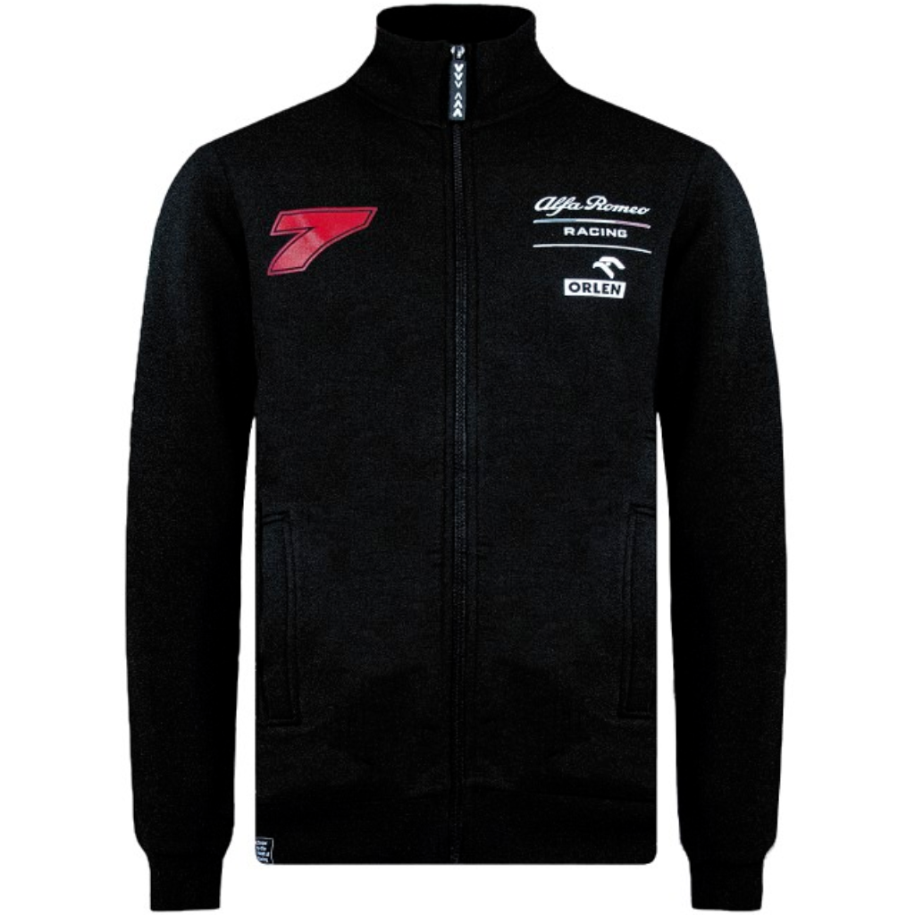 Alfa Romeo Racing F1 Men's Kimi Räikkönen Zipped Sweatshirt Black