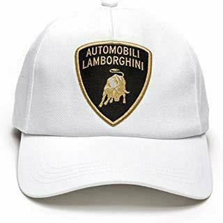 Automobili Lamborghini Classic Shield Hat White