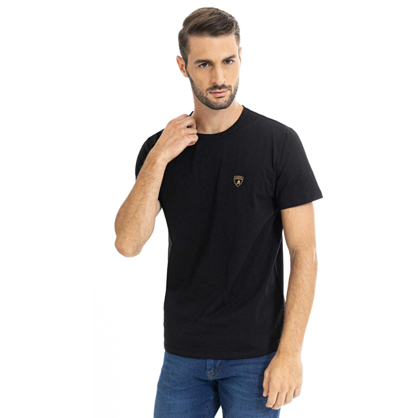 Automobili Lamborghini Men's Small Logo T-Shirt Black