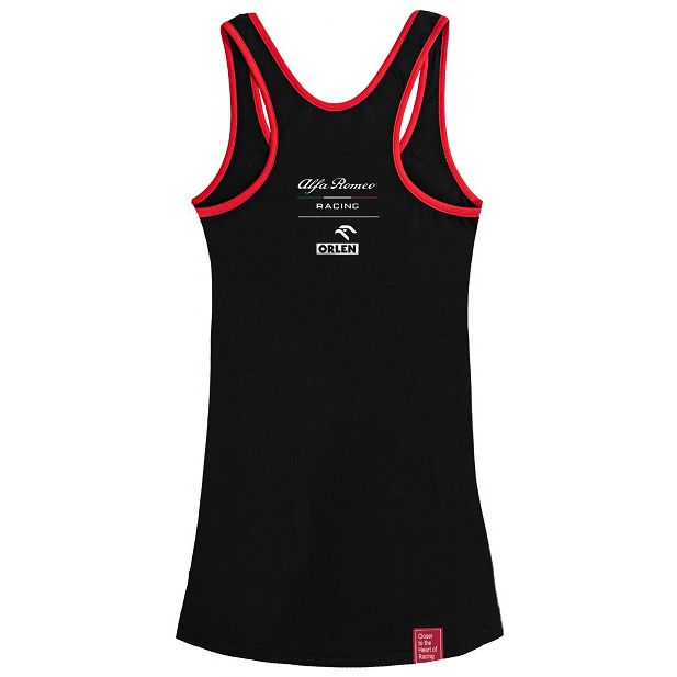 Alfa Romeo Racing F1 Women's Silver Tribute Tank Top Black