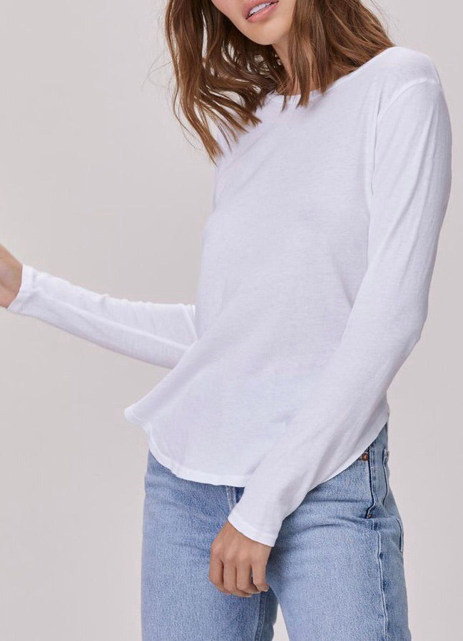 LNA Essential Cotton Long Sleeve Tee