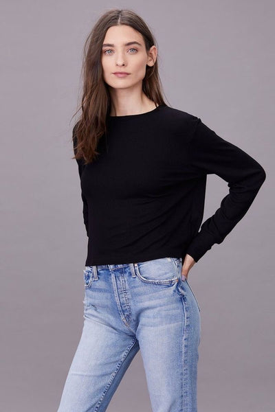 LNA Ribbed Long Sleeve Crew