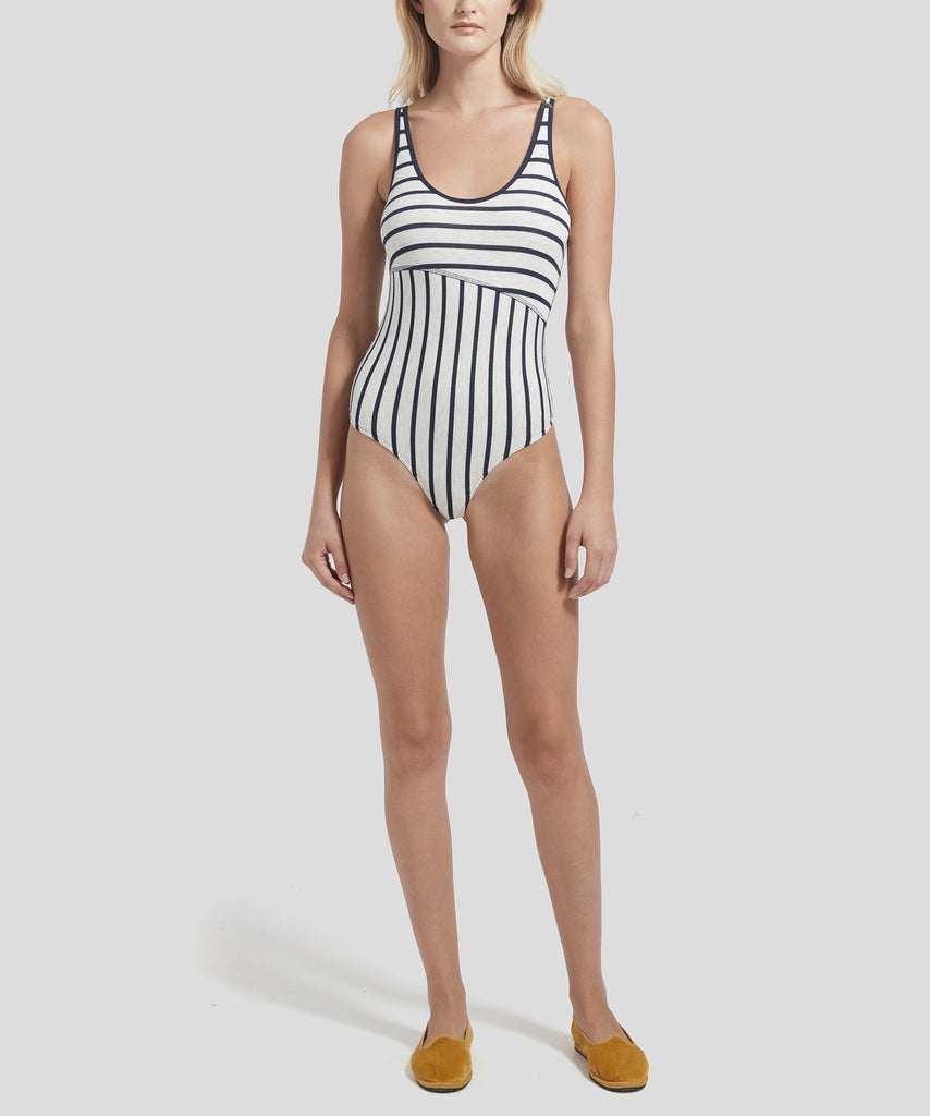 ATM Modal Rib Striped Bodysuit