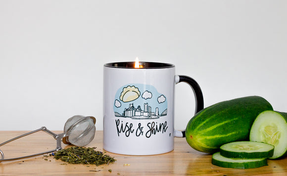 green tea and cucumber candle pittsburgh candle works