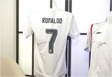 100032- Cristiano Ronaldo Personally Signed Real Madrid Shirt