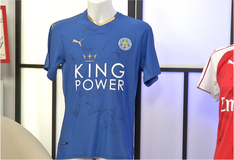 100054 - Leicester City Premiership Champions 2016 Playing Shirt Multi Signed