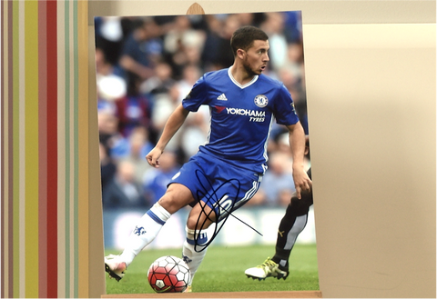 100070 - Eden Hazard Personally Signed Photo