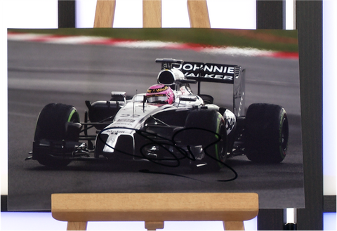100081 - Jensen Button Action Photo Personally Signed