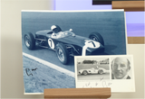 100084 - Sir Stirling Moss Action Photo Personally Signed