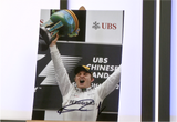 100085 - Nikko Rosberg Action Photo Personally Signed