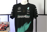 100089 - Formula One Shirt Double Signed by Lewis Hamilton