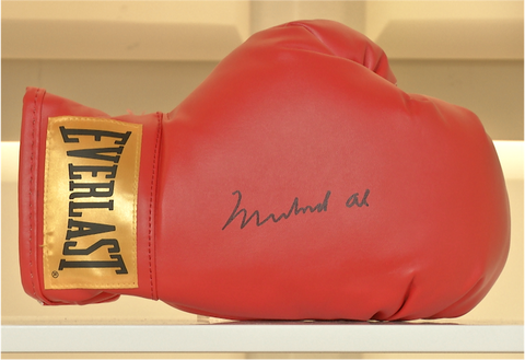 100094 - Muhammad Ali Personally Signed Boxing Glove with special lifetime hologram Certificate of Authenticity.