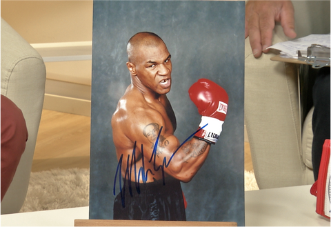 100108 - Mike Tyson Personally Signed Photo