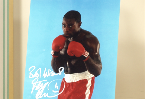 100114 - Frank Bruno Personally Signed Photo