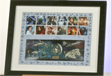 100131 - Star Wars Framed & Mounted Celebration Stamps Sheetlet