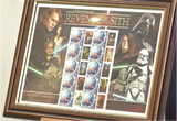 100132 - Star Wars 'Revenge of the Sith 'Framed & Mounted 10 diff Characters official Star Wars Stamps
