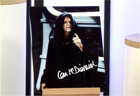 100148 - Ian Mcdiarmid as Emperor Palpatine in Star Wars Photo Personally Signed
