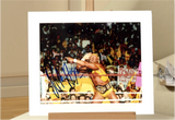 100166 - Hulk Hogan Mounted Action Photo Personally Signed