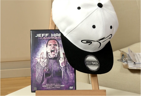 100169 - Jeff Hardy Cap & All Action DVD