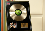 "100186 - The Beatles ""Let it Be"" Framed & Mounted Gold Disc"