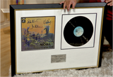 100193 - Pink Floyd Framed and Mounted Photo personally signed original Vinyl LP Presentation