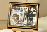 100196 - Elvis Presley - The legend lives on - framed and mounted stamps sheetlet