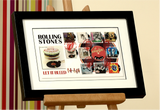 100199 - The Rolling Stones - Let it Bleed Framed & Mounted Stamps Celebration Display
