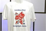 300022 - London 2012 Official Paralympics T-Shirt (White or Blue)