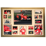 100087 - Michael Schumacher Framed & Mounted Photo Montage