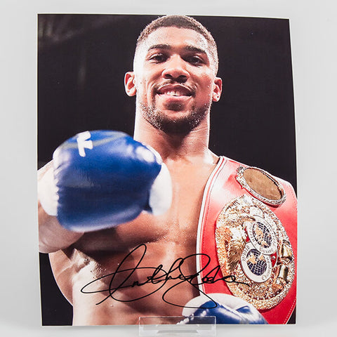 100002 - Anthony Joshua Hand Signed Boxing Photo