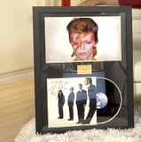 "100185 - David Bowie ""Alladin Sane"" Framed & Mounted Gold Disc"