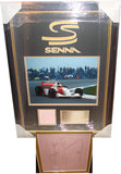 100093 - Ayrton Senna Framed & Mounted Photo Montage Personally Signed